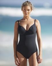 בגד ים שלם לחזה גדול אמלפי שחור