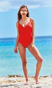 בגד ים שלם למידות גדולות אדום